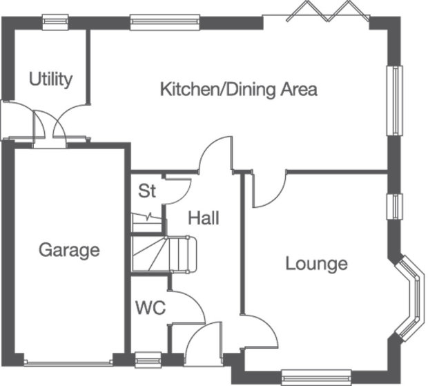 The Elloughton ground floor floorplan