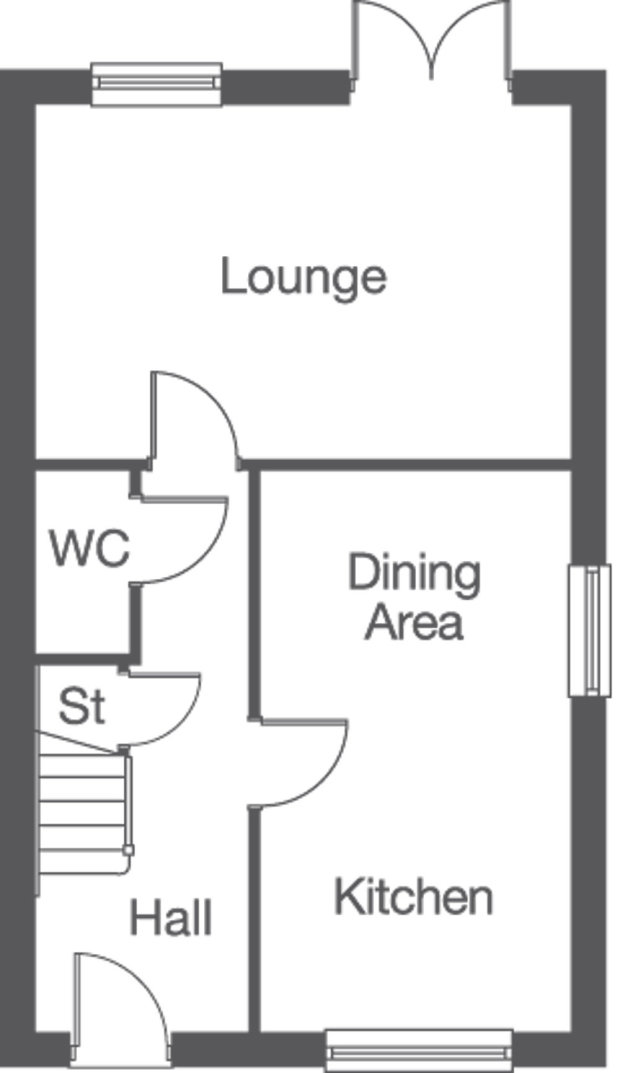 The Kingston ground floor floorplan