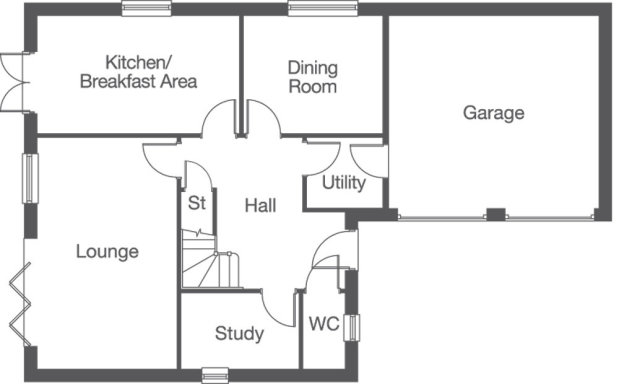 The Hornsea ground floor floorplan
