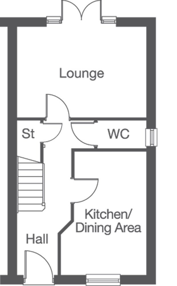 The Cedarwood ground floor floorplan