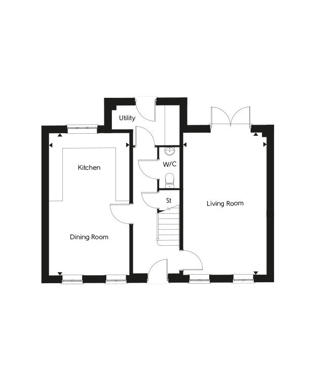 The Victoria ground floor floorplan