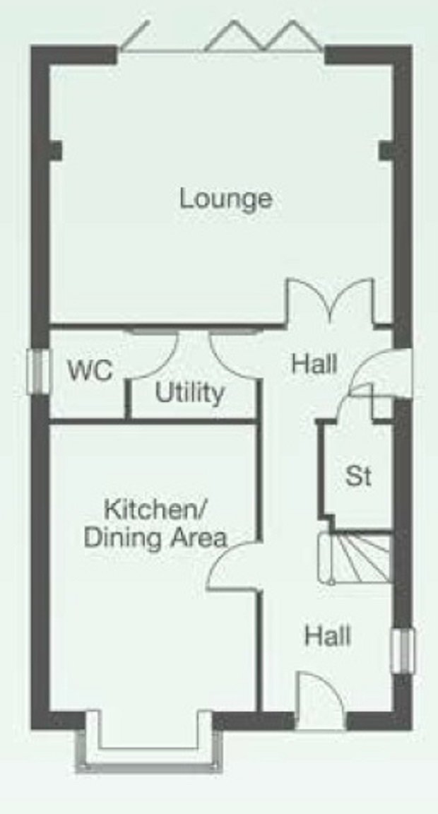 The Sten U ground floor floorplan