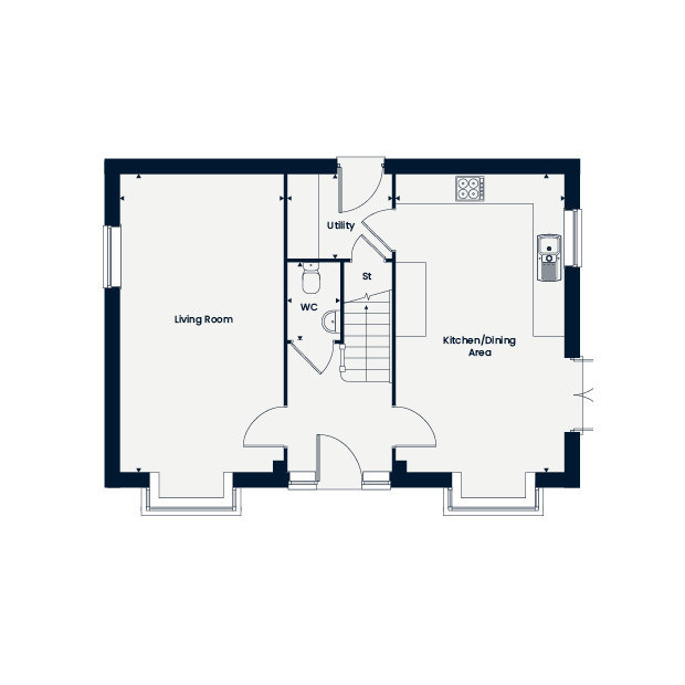 The Ashleworth ground floor floorplan