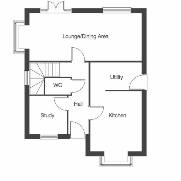 The Oxford ground floor floorplan