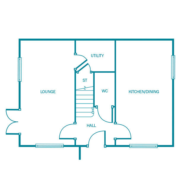 The Oakwood. ground floor floorplan