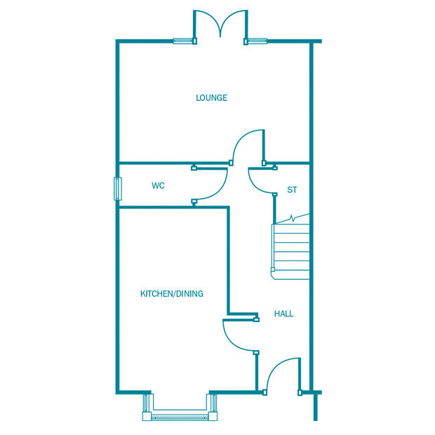The Holmewood ground floor floorplan