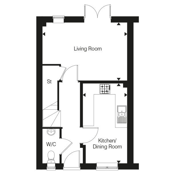 The Thornton ground floor floorplan