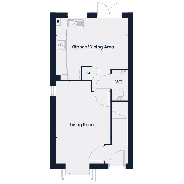 The Redwood. ground floor floorplan