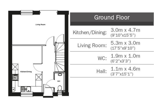 The Beech  ground floor floorplan