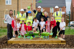 Children grow their own thanks  to housebuilder