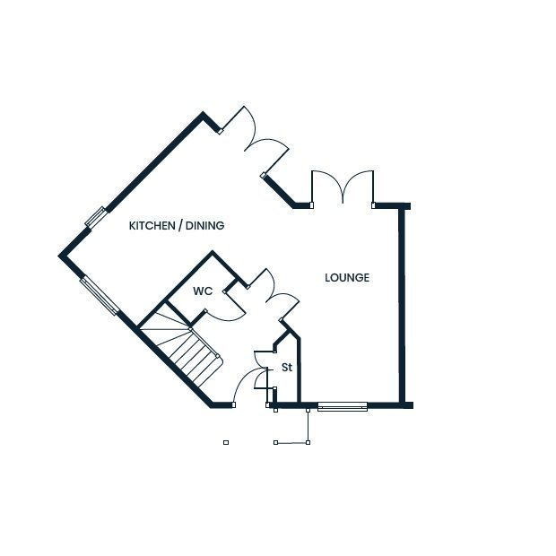 Maywood ground floor floorplan