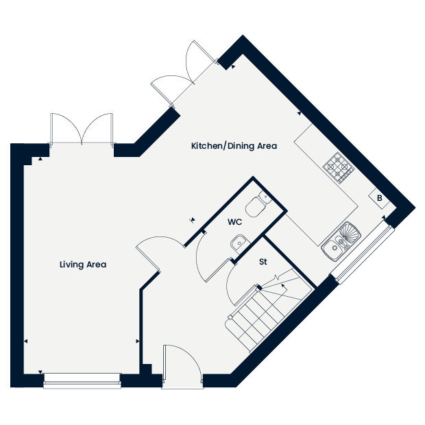 The Maywood ground floor floorplan