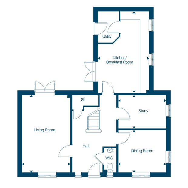 The Walford ground floor floorplan
