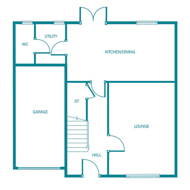 The Chelmsford ground floor floorplan
